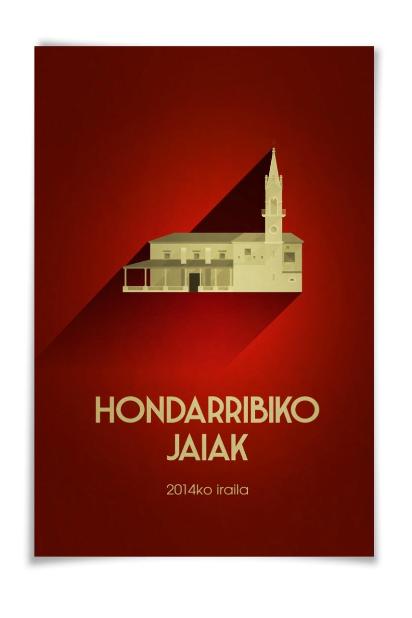 Propuesta cartel de fiestas de Hondarribia (Gipuzkoa) 2014 1