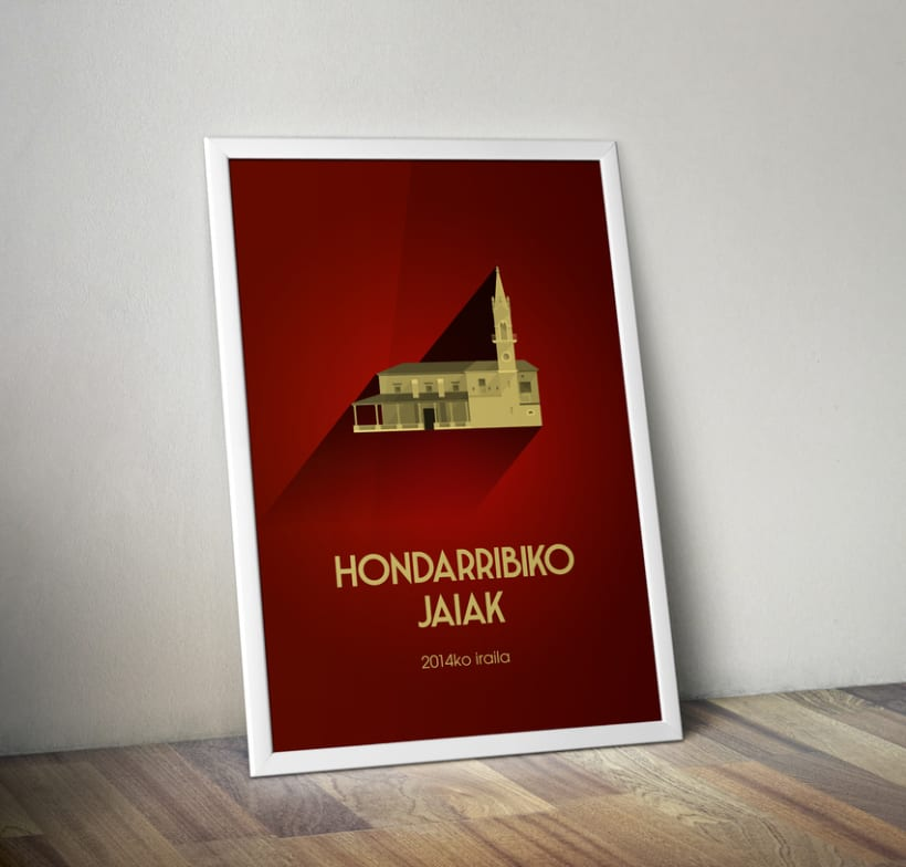 Propuesta cartel de fiestas de Hondarribia (Gipuzkoa) 2014 3