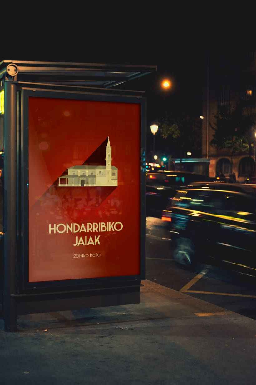 Propuesta cartel de fiestas de Hondarribia (Gipuzkoa) 2014 4