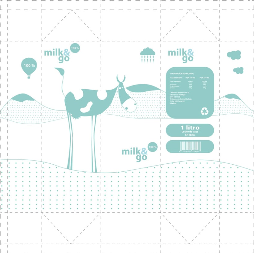 Packaging. Milk & go 1