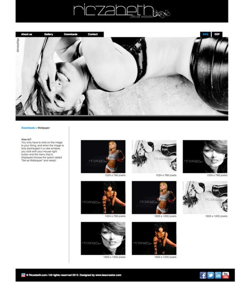 Oficial web (Riczabeth Actress) 2