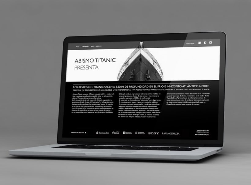 BRANDING AND WEB DESIGN - ABISMO TITANIC 2