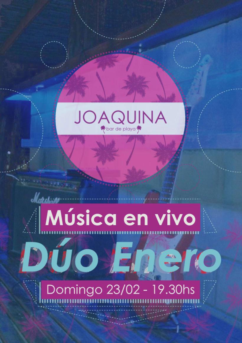 Afiches para Joaquina Bar de Playa 1