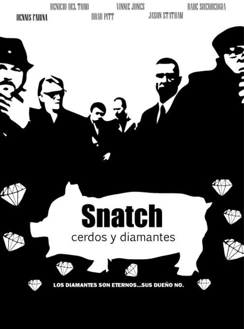 Cartel Snatch cerdos y diamantes 1
