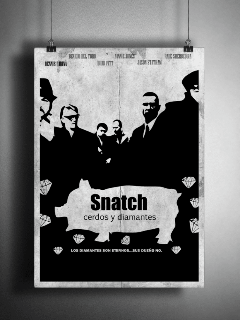 Cartel Snatch cerdos y diamantes 4