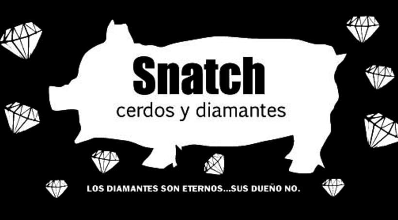 Cartel Snatch cerdos y diamantes 3