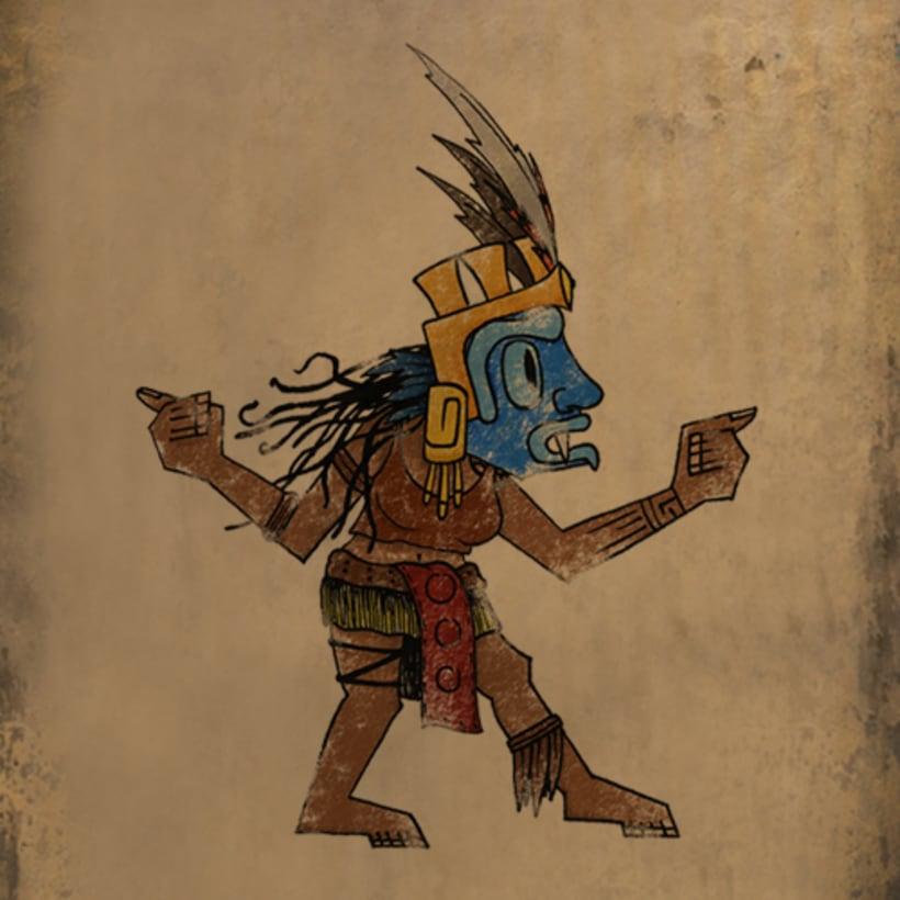 Aztlan: Rise of the Shaman. 1. Illustrations intro 4