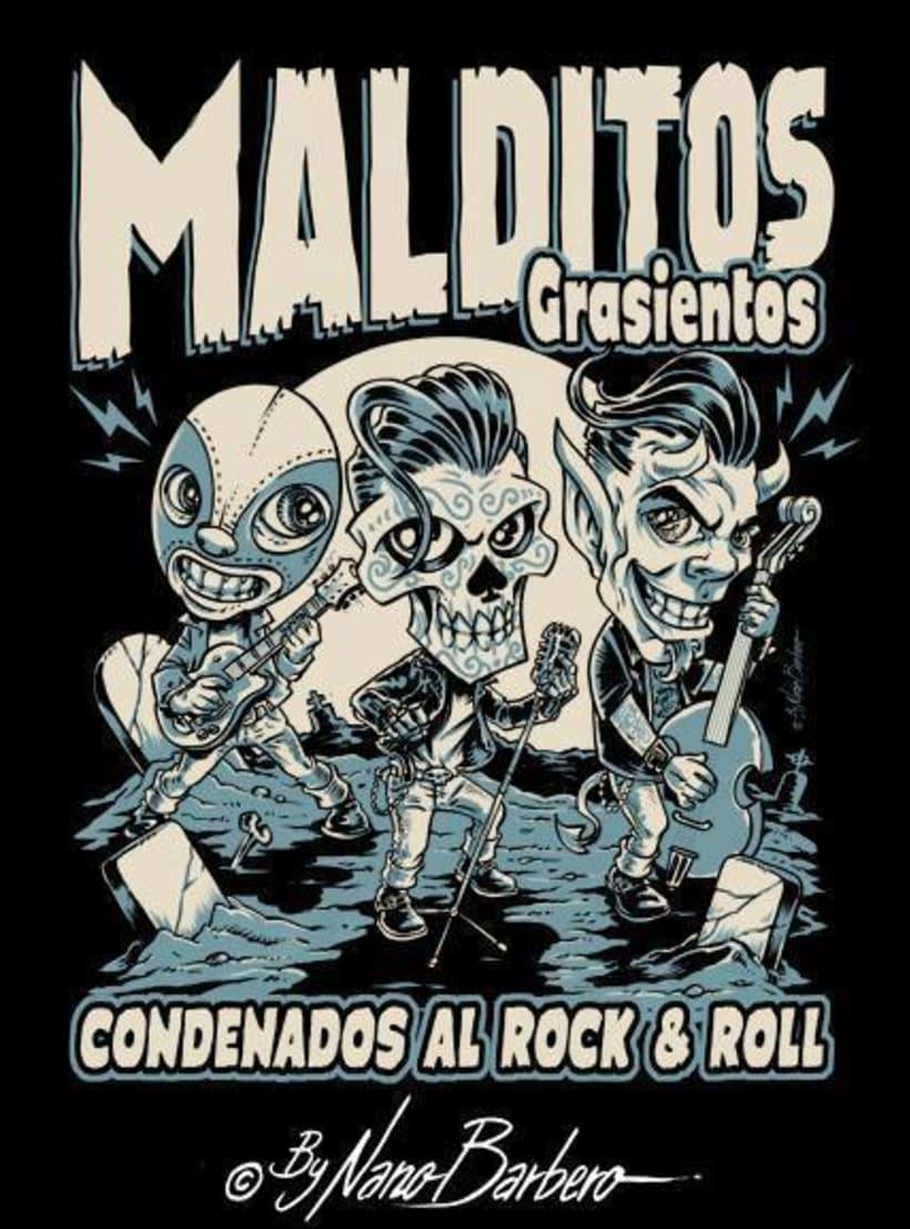 Colección de camisetas, Rockabilly art 0