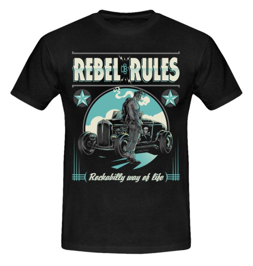 Colección de camisetas, Rockabilly art 2