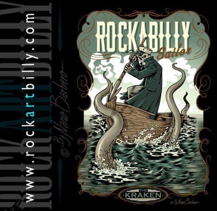 Colección de camisetas, Rockabilly art 6