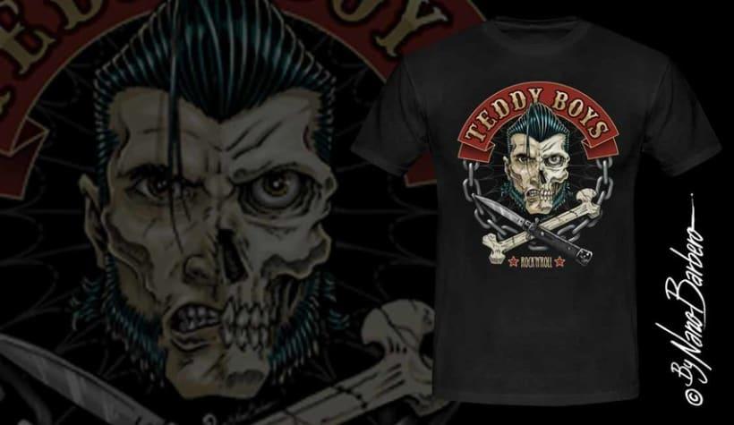 Colección de camisetas, Rockabilly art 8