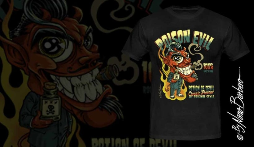 Colección de camisetas, Rockabilly art 10