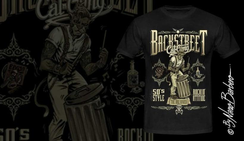 Colección de camisetas, Rockabilly art 12