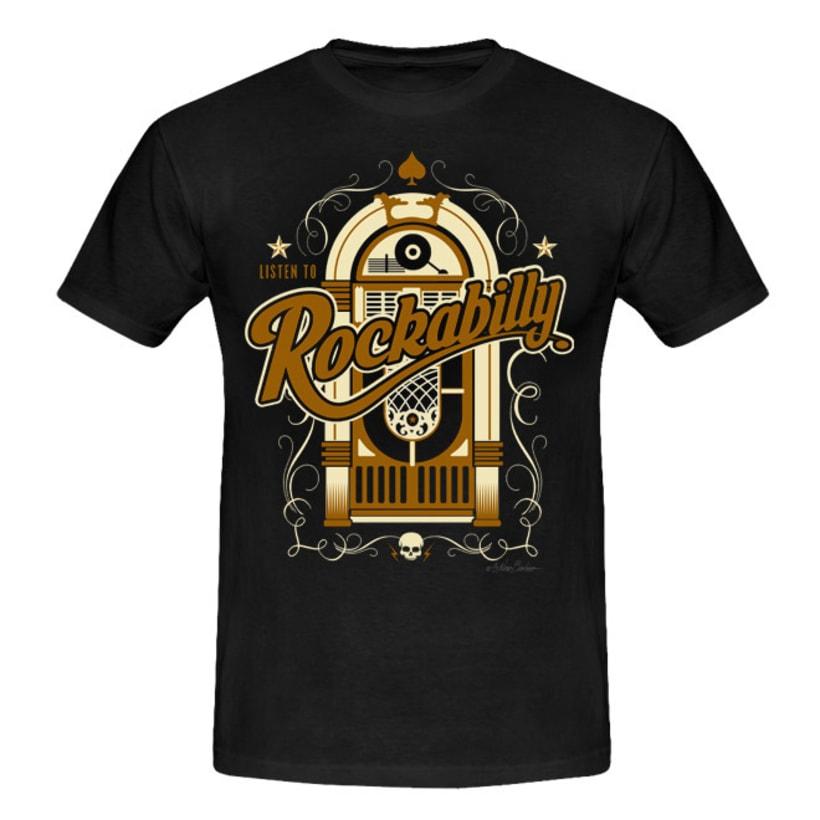 Colección de camisetas, Rockabilly art 17