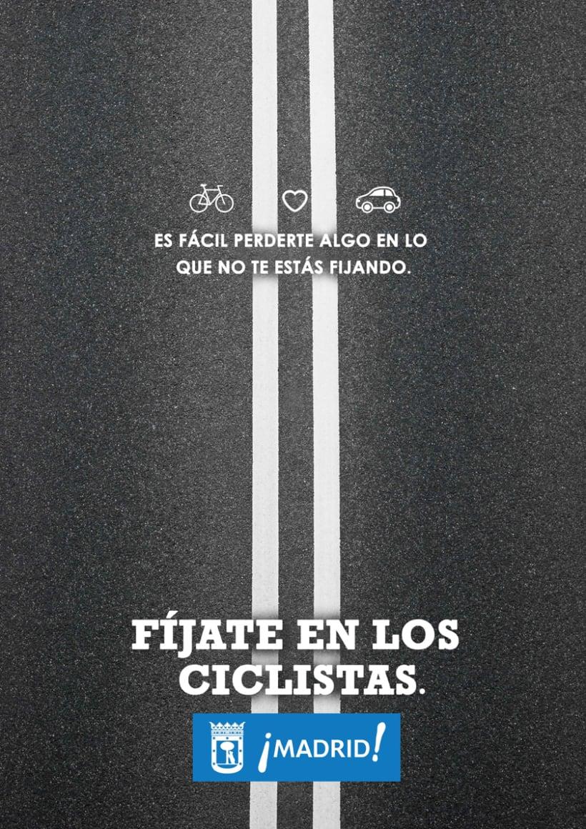 """Propuestas de Cartel """" Fíjate en los ciclistas"""" -1"""