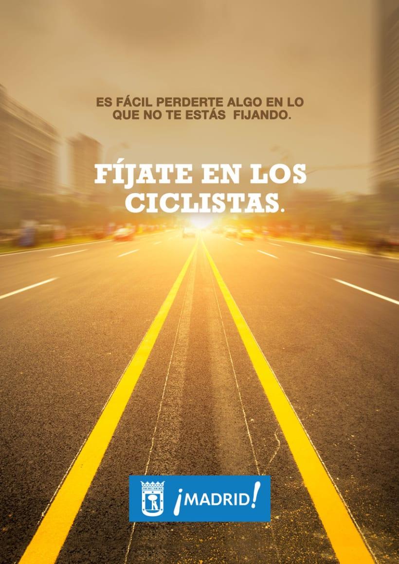 """Propuestas de Cartel """" Fíjate en los ciclistas"""" 0"""