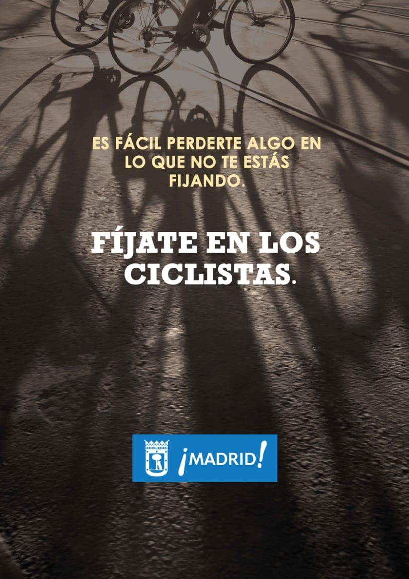 """Propuestas de Cartel """" Fíjate en los ciclistas"""" 1"""