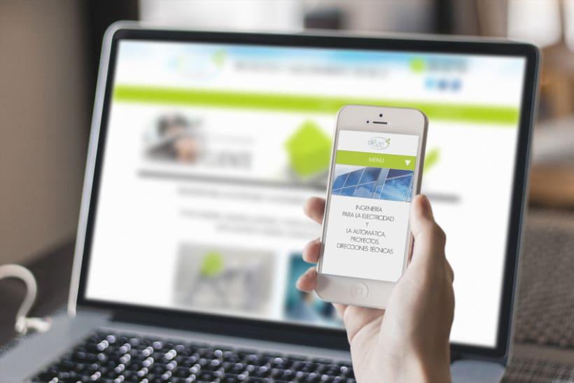 Branding y diseño + desarrollo web empresa de ingeniería eléctrica  0
