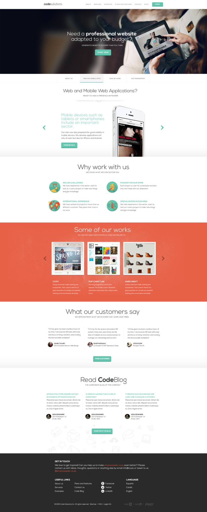 Code Solutions website design (Spain) -1