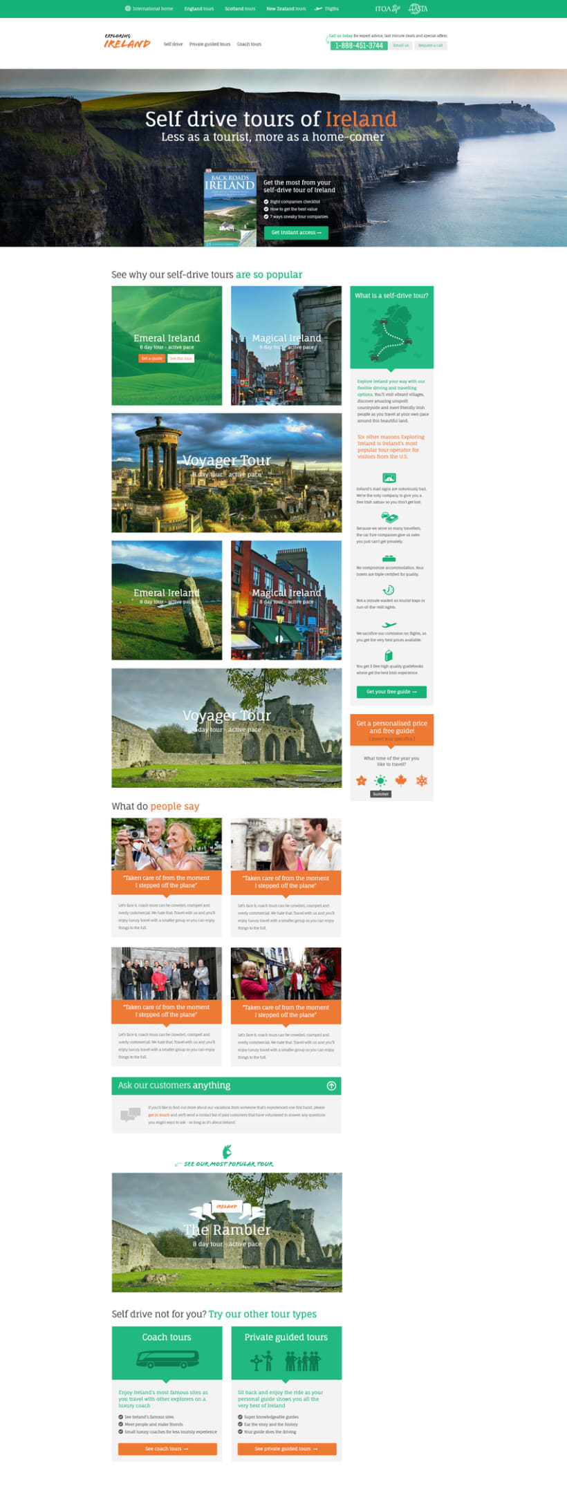 Exploring Ireland homepage design -1