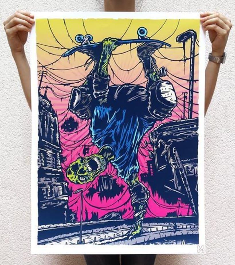 """Ilustración para la exposición colectiva """"Concrete Homeland"""" 2"""