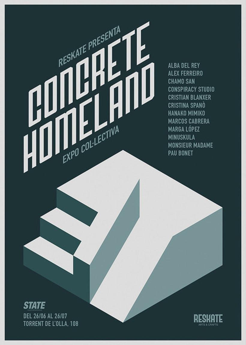 """Ilustración para la exposición colectiva """"Concrete Homeland"""" 3"""