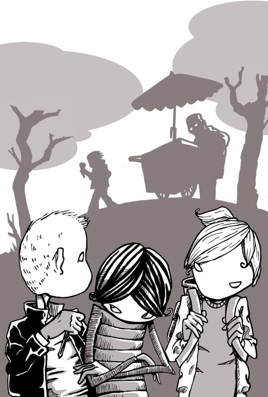 """Ilustraciones para """"L'Assessinat del professor de música"""" de Jordi Sierra y Fabra 4"""