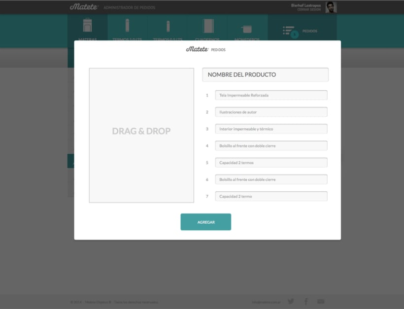 Administrador de Pedidos - UI / UX Designer 0