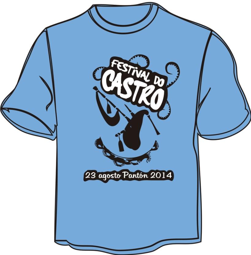 """Camiseta """"Festival do Castro"""" -1"""