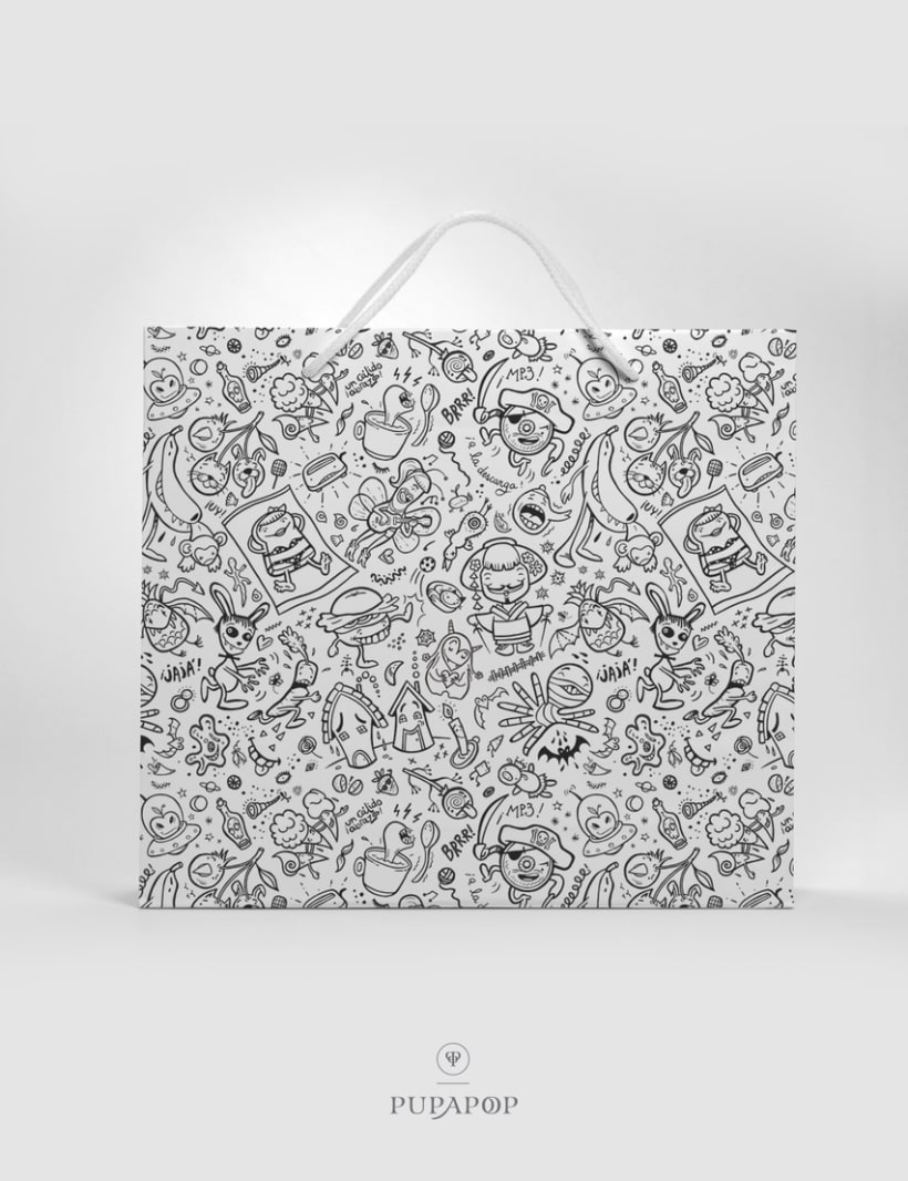 """Crazy Pop"" Pattern Design -1"