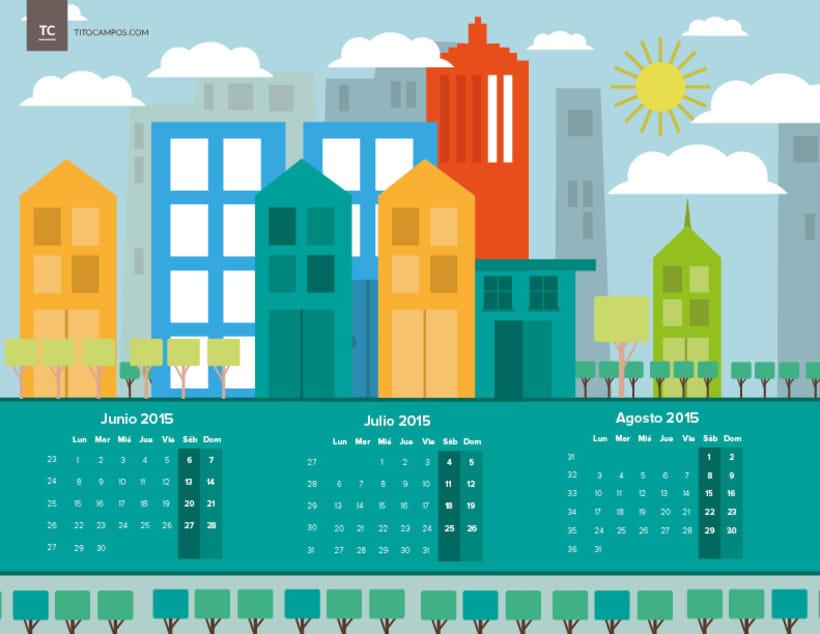 Calendar - Geometric City -1