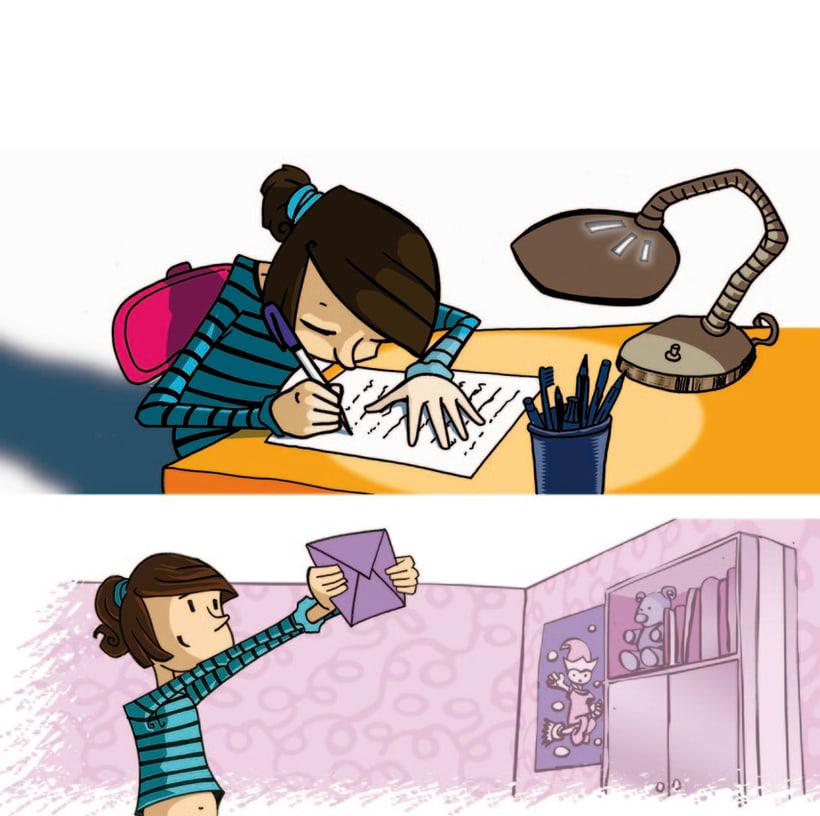 Ilustraciones para libro de texto Nou Estimul 0