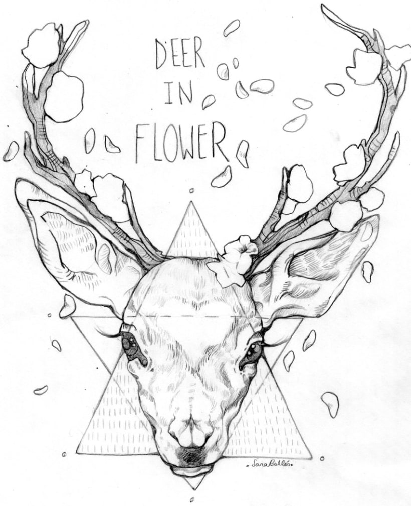 Deer in flower 0