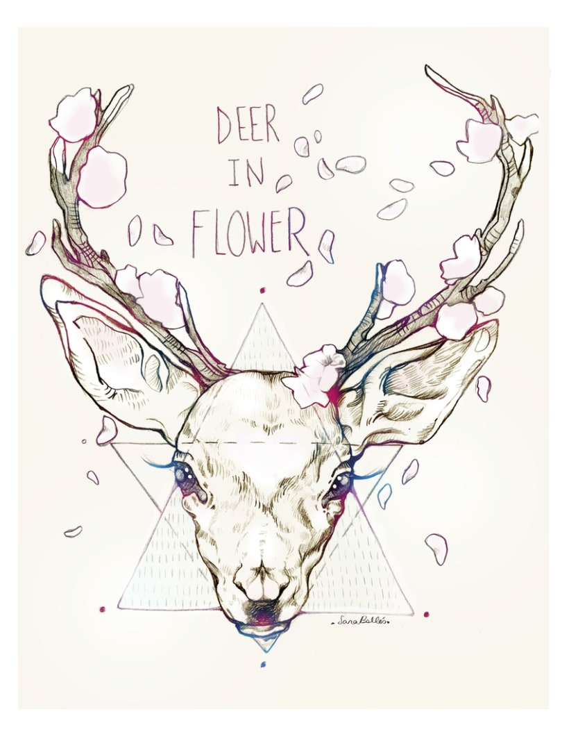 Deer in flower 1