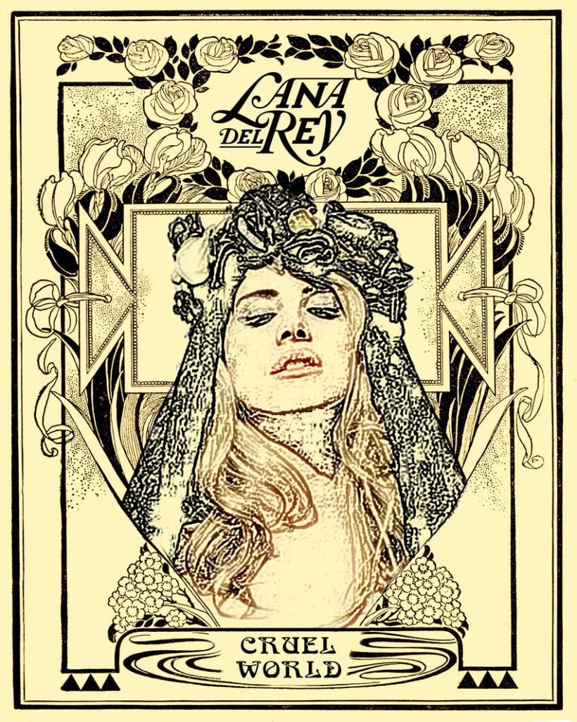 """Lana del Rey """"Cruel World"""" Poster -1"""