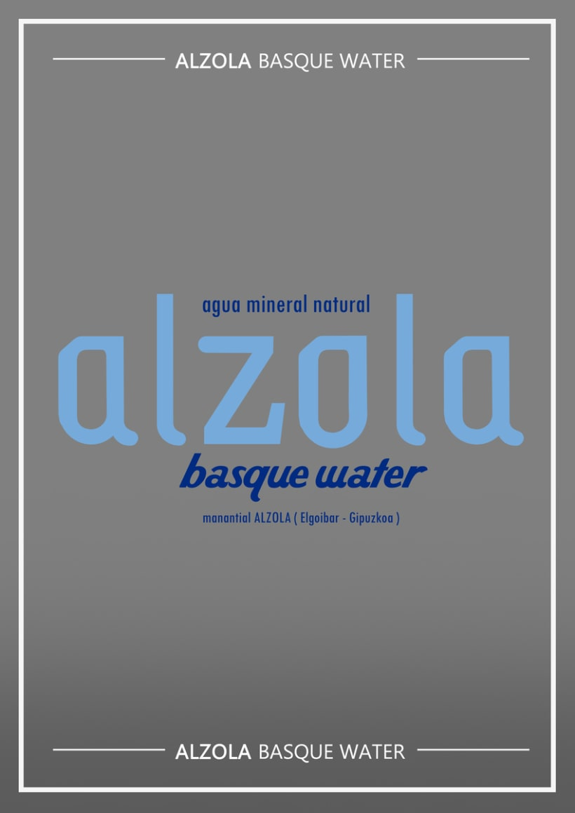 Alzola Basque Water logotipo+packaging 0