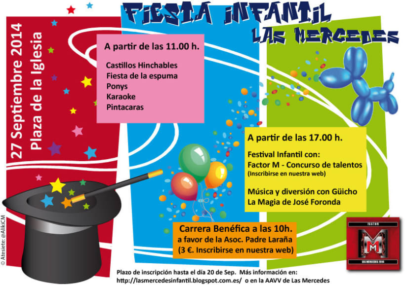 Cartel Fiesta infantil de Las Mercedes -1