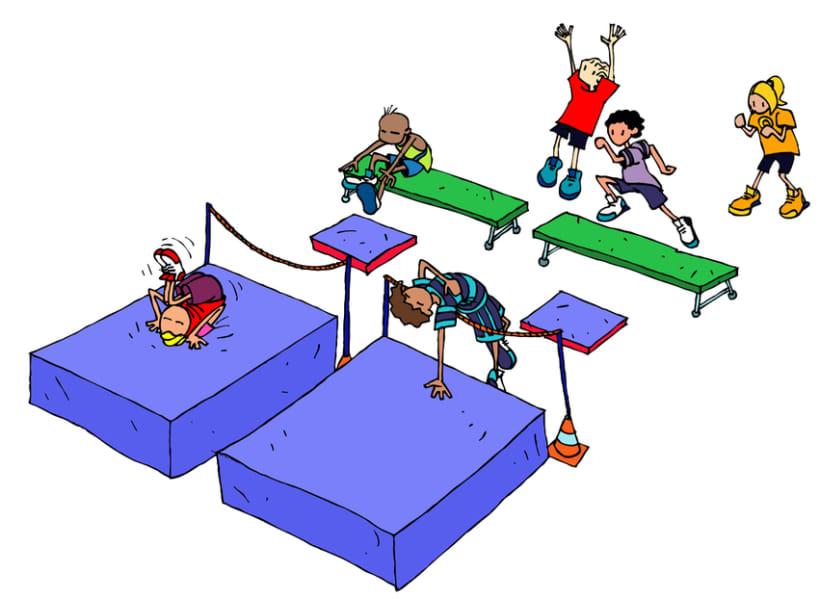 Juegos para educación física escolar  Domestika