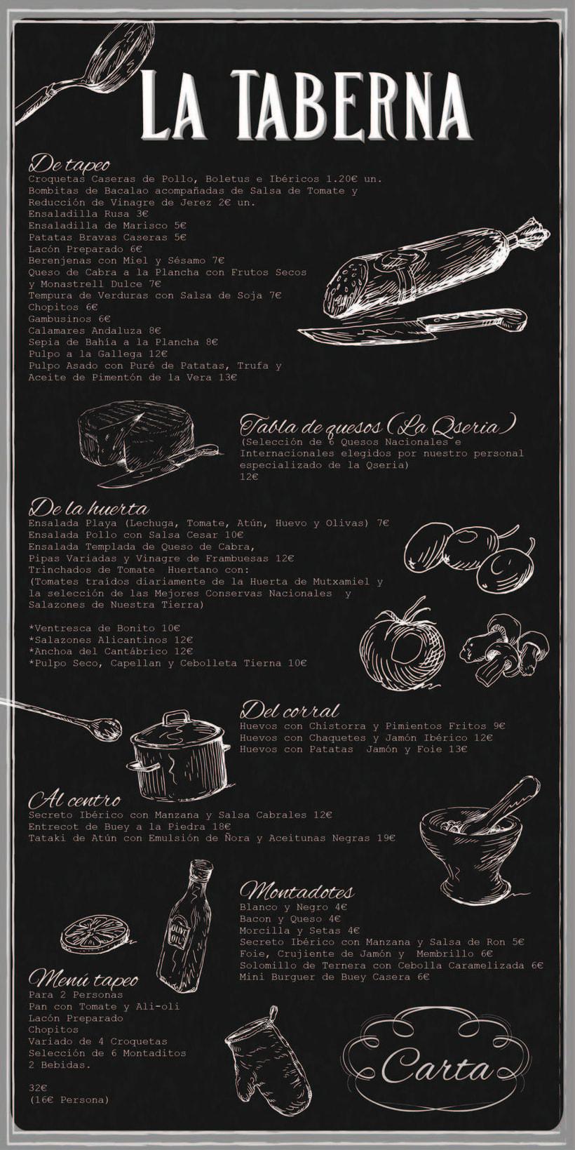 """Cartas y Carteles Vintage """"La Taberna"""" -1"""