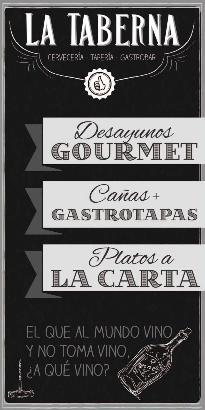 """Cartas y Carteles Vintage """"La Taberna"""" 0"""