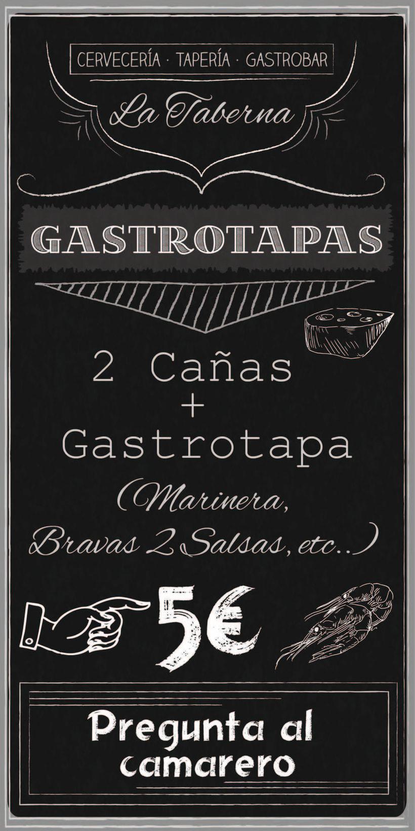 """Cartas y Carteles Vintage """"La Taberna"""" 3"""