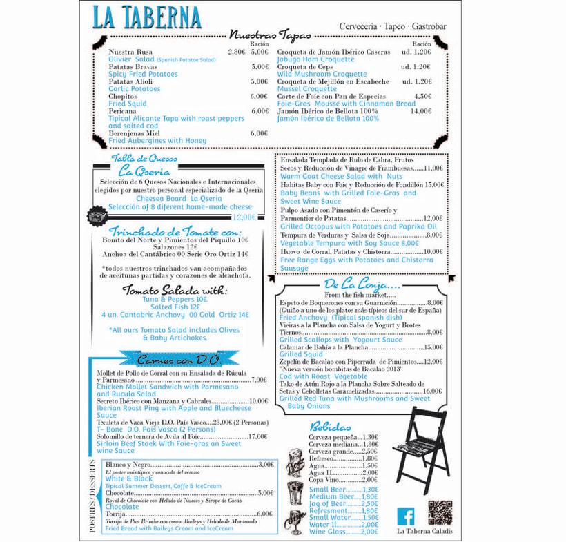 """Cartas y Carteles Vintage """"La Taberna"""" 4"""