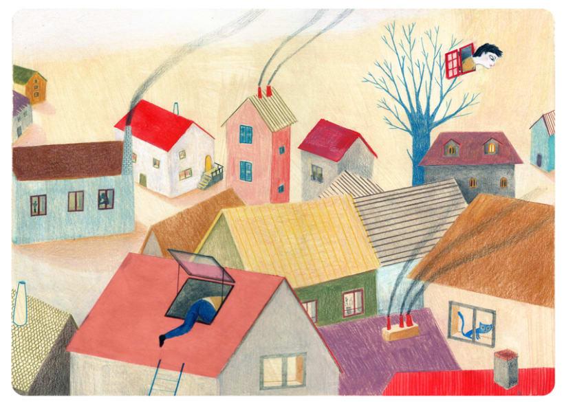 Les fenêtres magiques (Children's illustration) 1