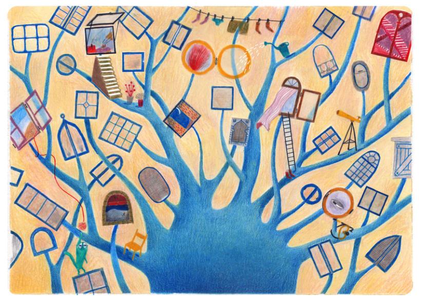 Les fenêtres magiques (Children's illustration) 0