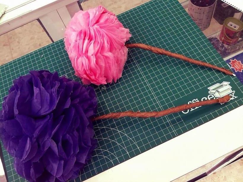 Diseño de flores para escaparate -1