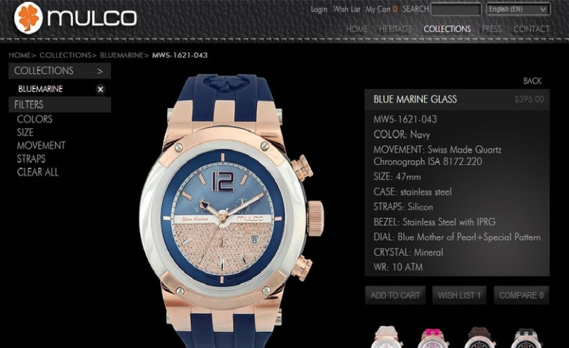 Web site Mulco Watches 0
