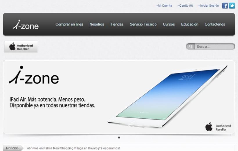 Web Site iZone  -1