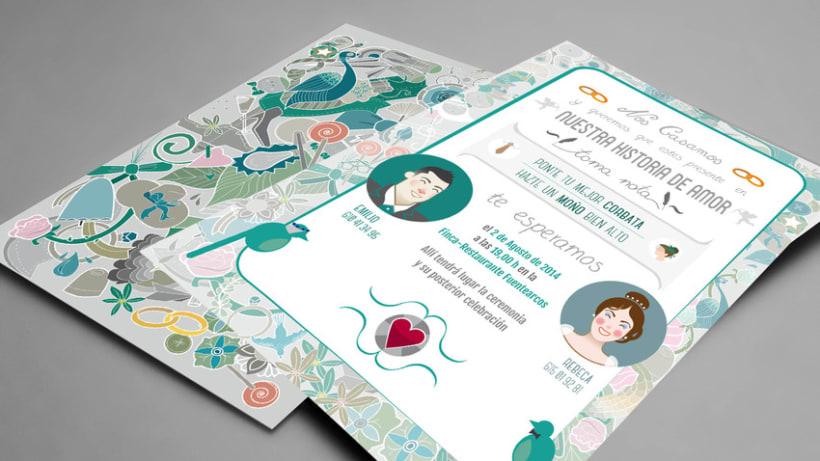 Invitación Boda Emilio&Rebeca 1