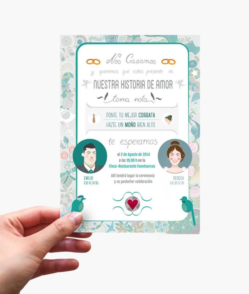 Invitación Boda Emilio&Rebeca 0