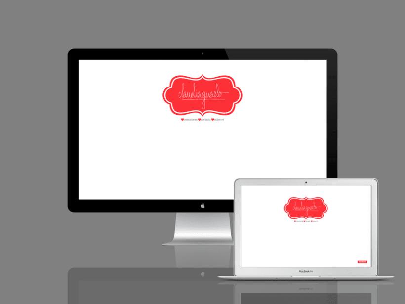 Diseño página web claudiaguado 0